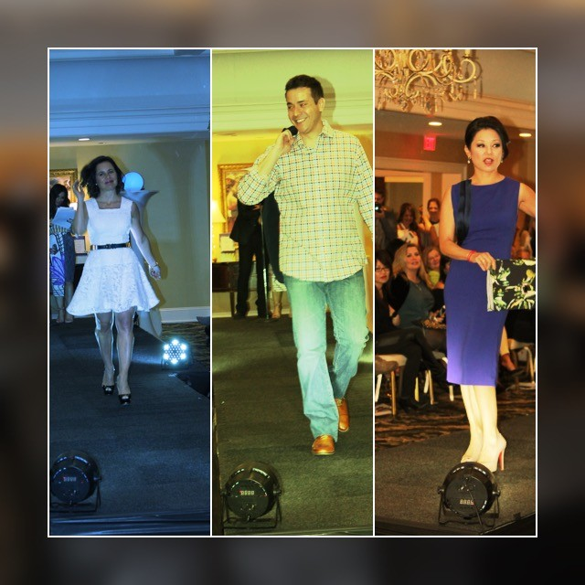 ArtbeCause Fashion Show Wellesley Country Club. Walking the runway… Daniela Corte, Kris Anderson & Janet Wu